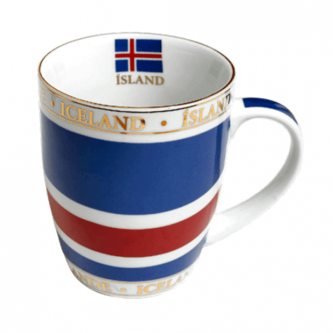 Cup with Icelandic flag