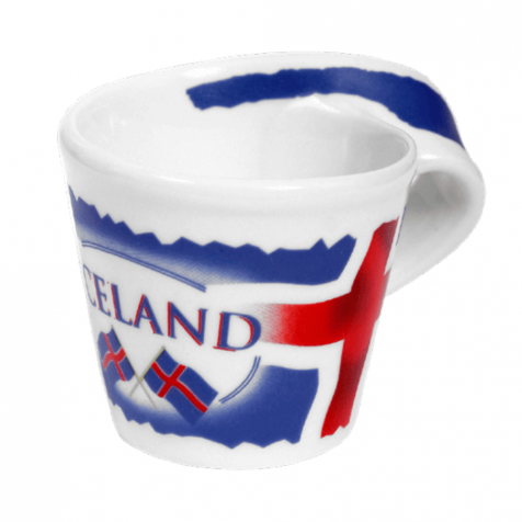 Twisted mug with Icelandic flag