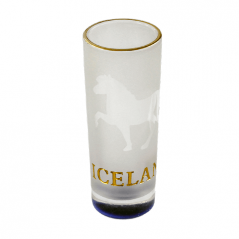 Shot glass with horses