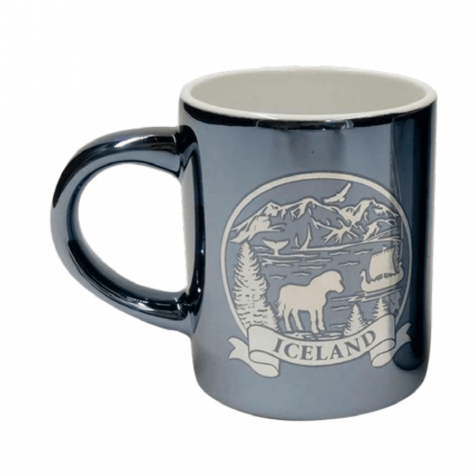 Cup with Iceland in silver