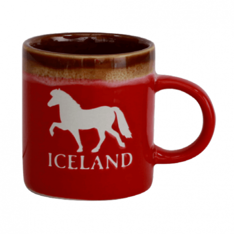Cup with Icelandic horse