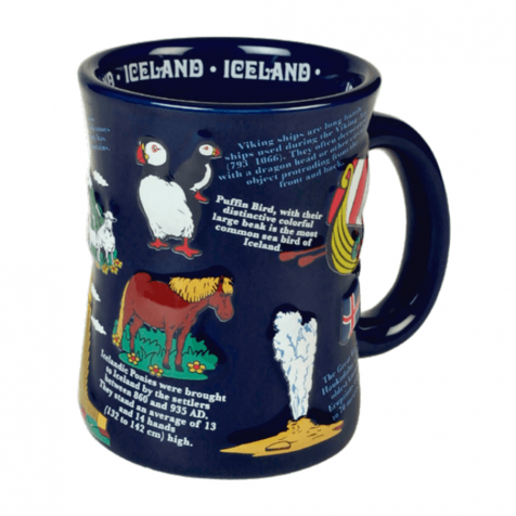 Cup with Icelandic history 3d