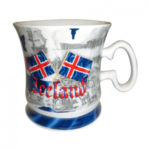 Cup with Icelandic theme