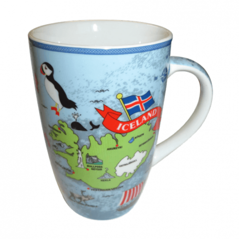 Cup with map of Iceland