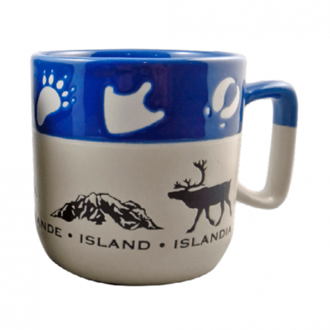 Cup with Icelandic animals