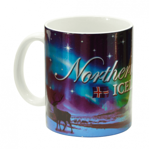 Cup with Northern lights