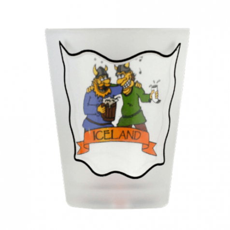 Shot glass with vikings