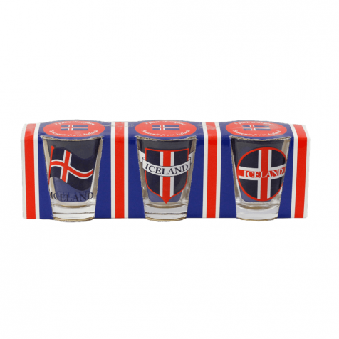 Shot glass with flag