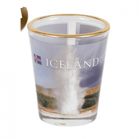 Shot glass with picture of Geysir