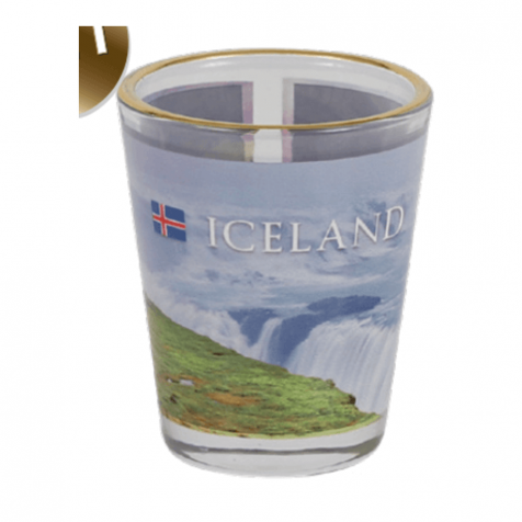 Shot glass with picture of Gullfoss