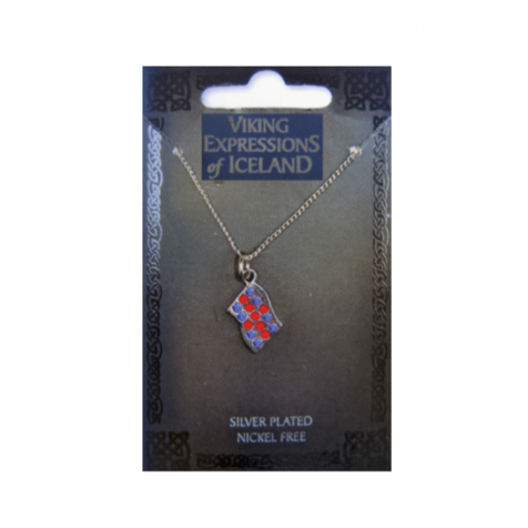 Necklace with flag