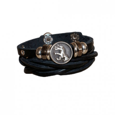 Ladies leather bracelet with horse