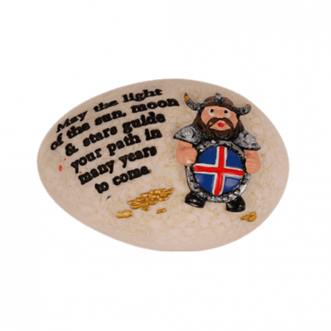 Lucky stone, Viking with shield
