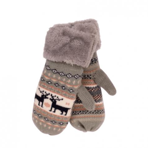 Ladies mittens with Reindeer