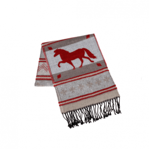 Scarf with Icelandic horse