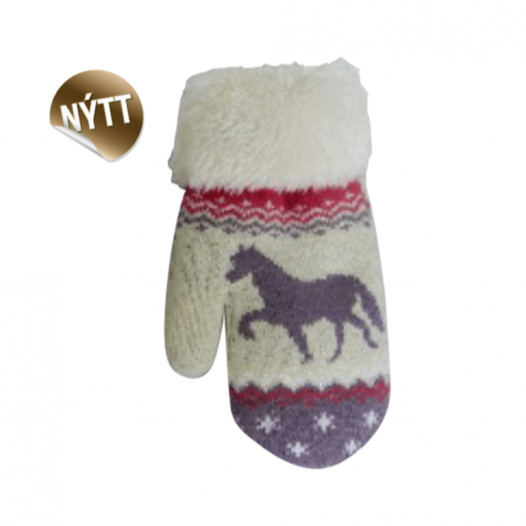 Children's mittens with Icelandic horse