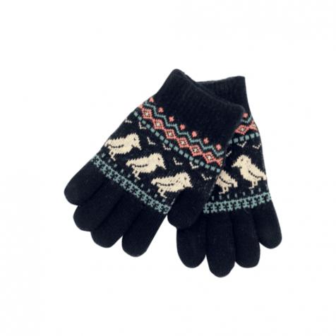 Children's mittens with puffins
