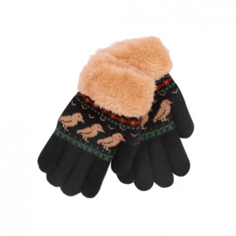 Children's gloves with puffins