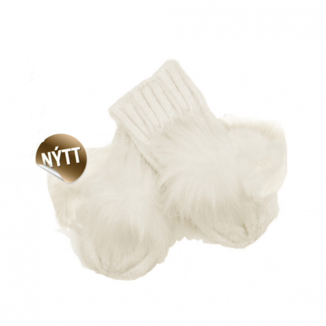 Children's mittens with pompom
