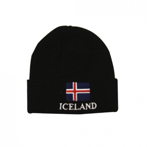 Hat with Icelandic flag