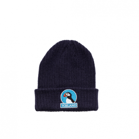 Beanie with puffin