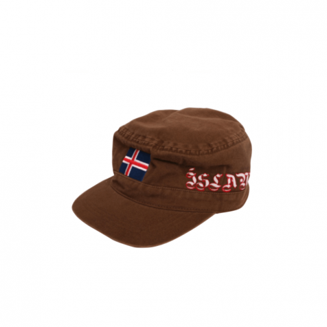 Cap with Icelandic flag