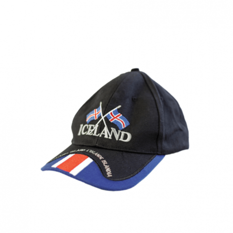 Cap with two Icelandic flags