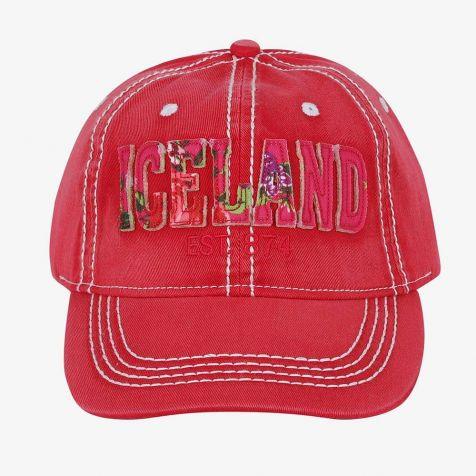 Baseball cap with flower Iceland