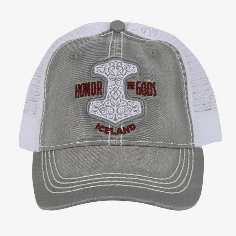 Mesh cap with Thor's Hammer