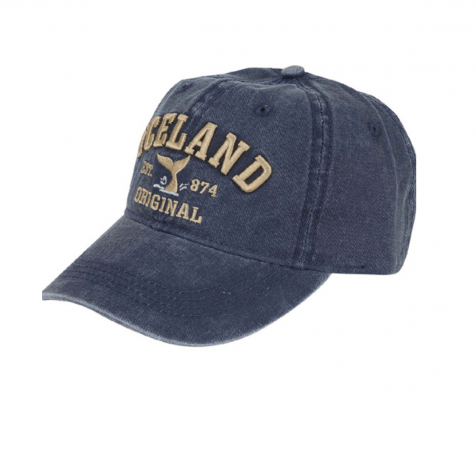 Baseball cap with Iceland and whale tail