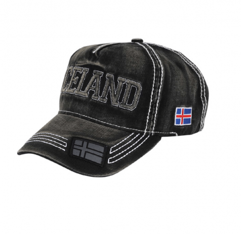 Baseball cap with Iceland and flag