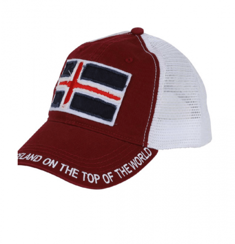 Mesh cap with Icelandic flag
