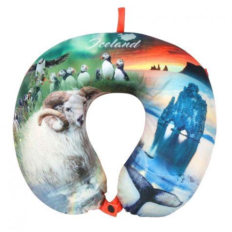 Travel pillow with sheep and Hvítserkur