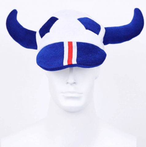 Soft viking cap football hat
