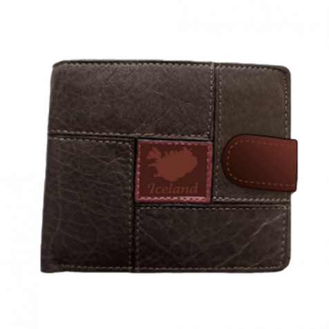 Pleather wallet, map of Iceland