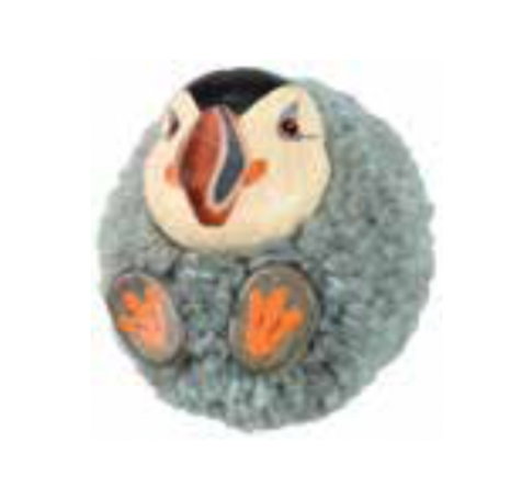 Gray puffin magnet