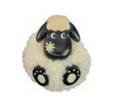 Black and white sheep magnet