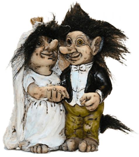 Troll wedding couple